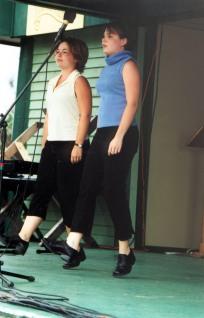 Dawn MacDonald-Gillis & Helen MacDonald - Highland VIllage Day 2001
